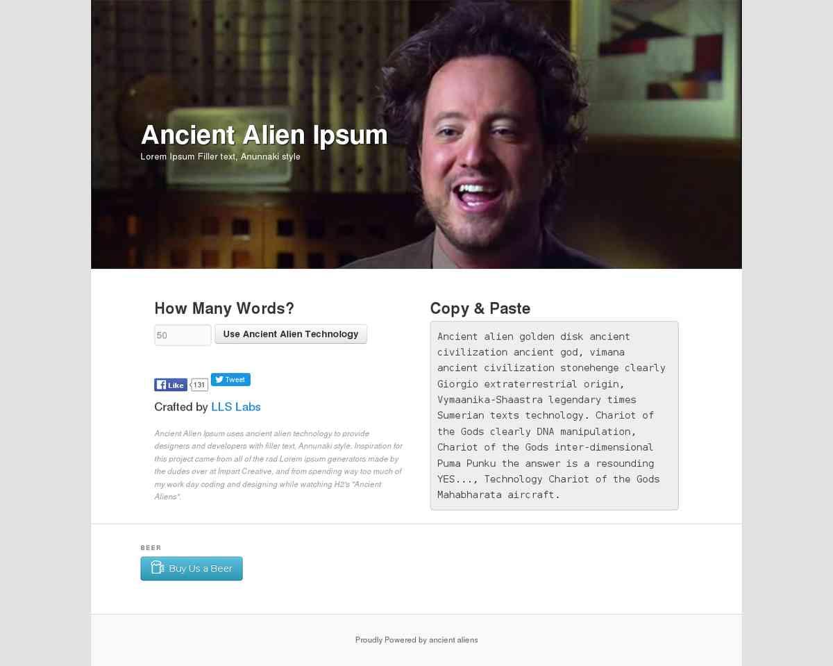 Ancient Alien Ipsum