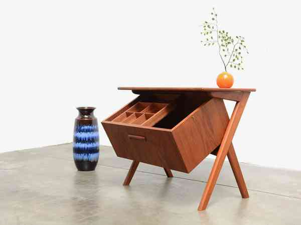 1960s Tilt Storage Table