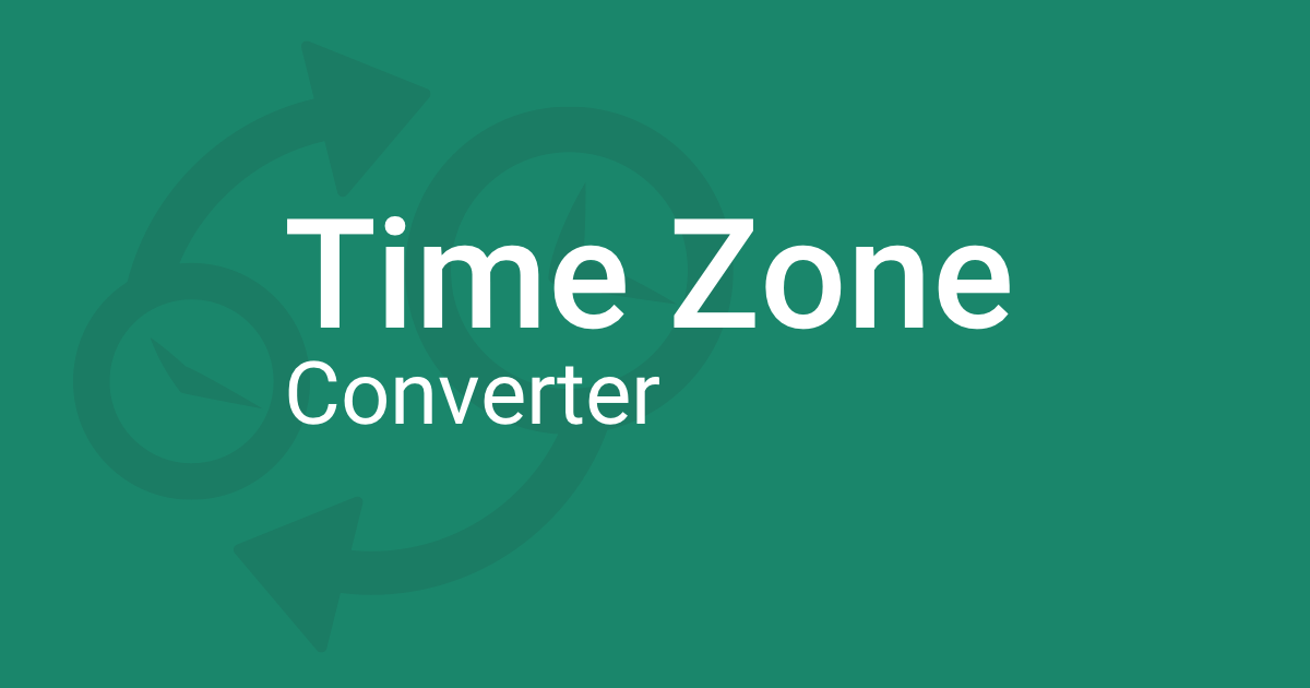 Time Zone Converter – Time Difference Calculator (NEW)