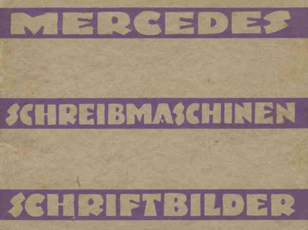 Mercedes Schreibmaschinen-Schriftbilder | Jens Kutilek | Flickr