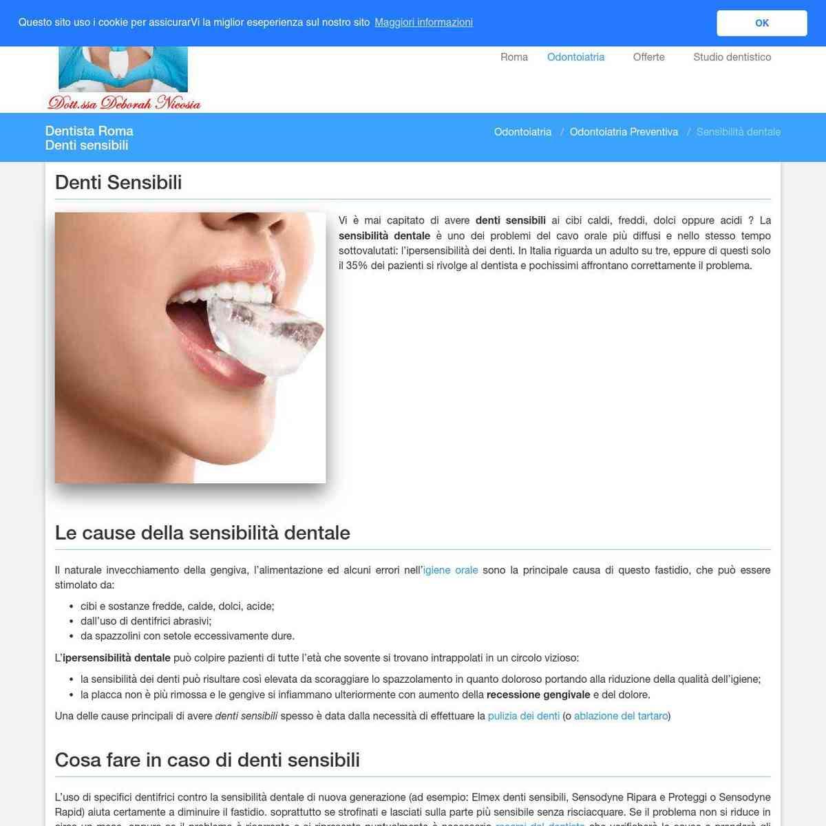 Denti sensibili - Dentista Roma