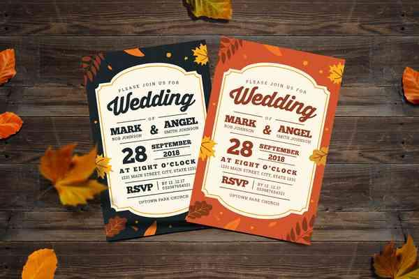 $ Autumn Wedding Invitation