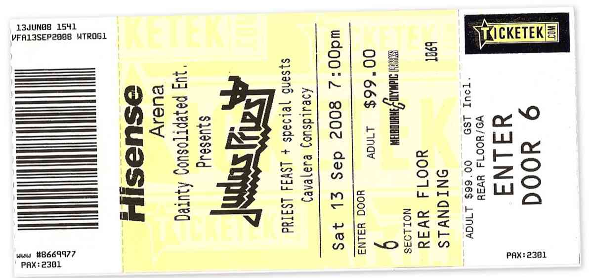 Judas Priest, Nostradamus tour, Hisense Arena, 130908