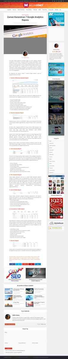 Zaman Kazandıran 7 Google Analytics Raporu