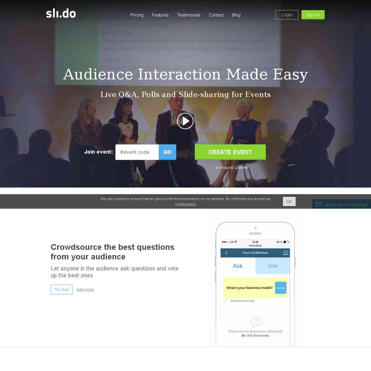 sli.do - Audience Interaction Made Easy
