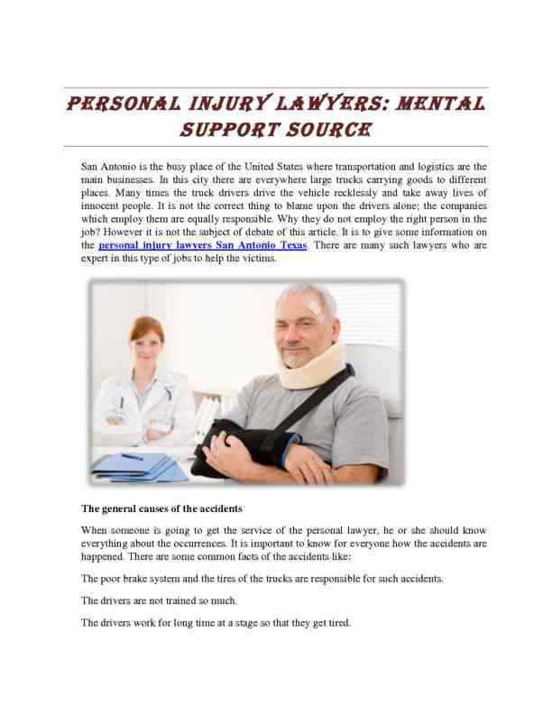 Personal Injury Lawyers - Mental Support Source