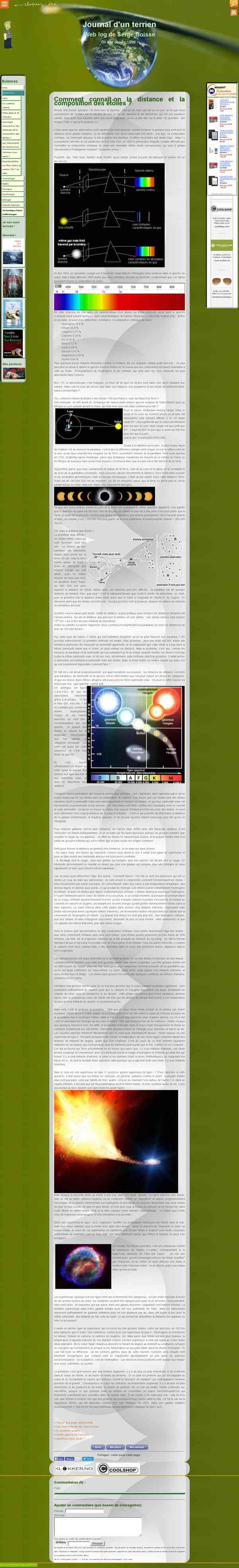 astronomie: comment connait-on la distance et la composition des étoiles ?