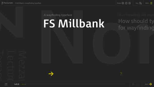FS Millbank - A wayfinding typeface from Fontsmith