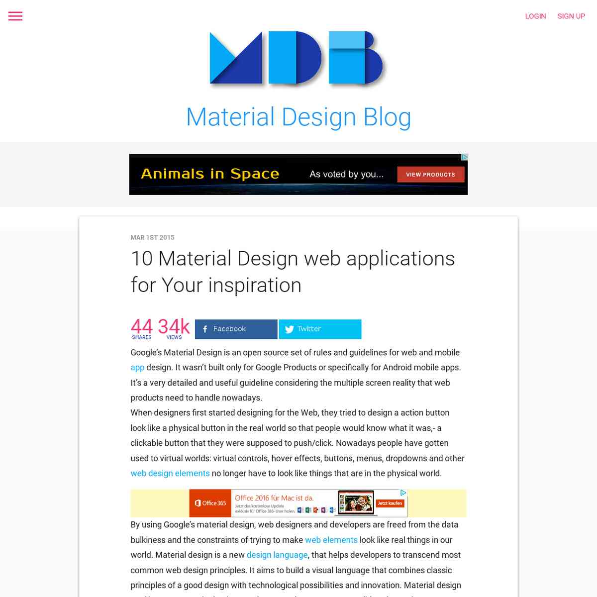 10 Material Design Web Applications For Your Inspiration My Design Tools