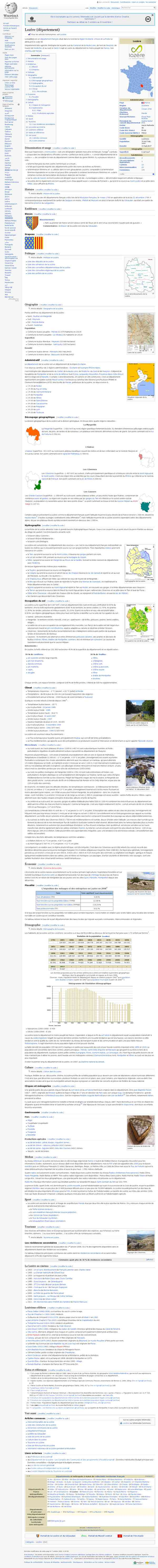 Lozère (département) — Wikipédia