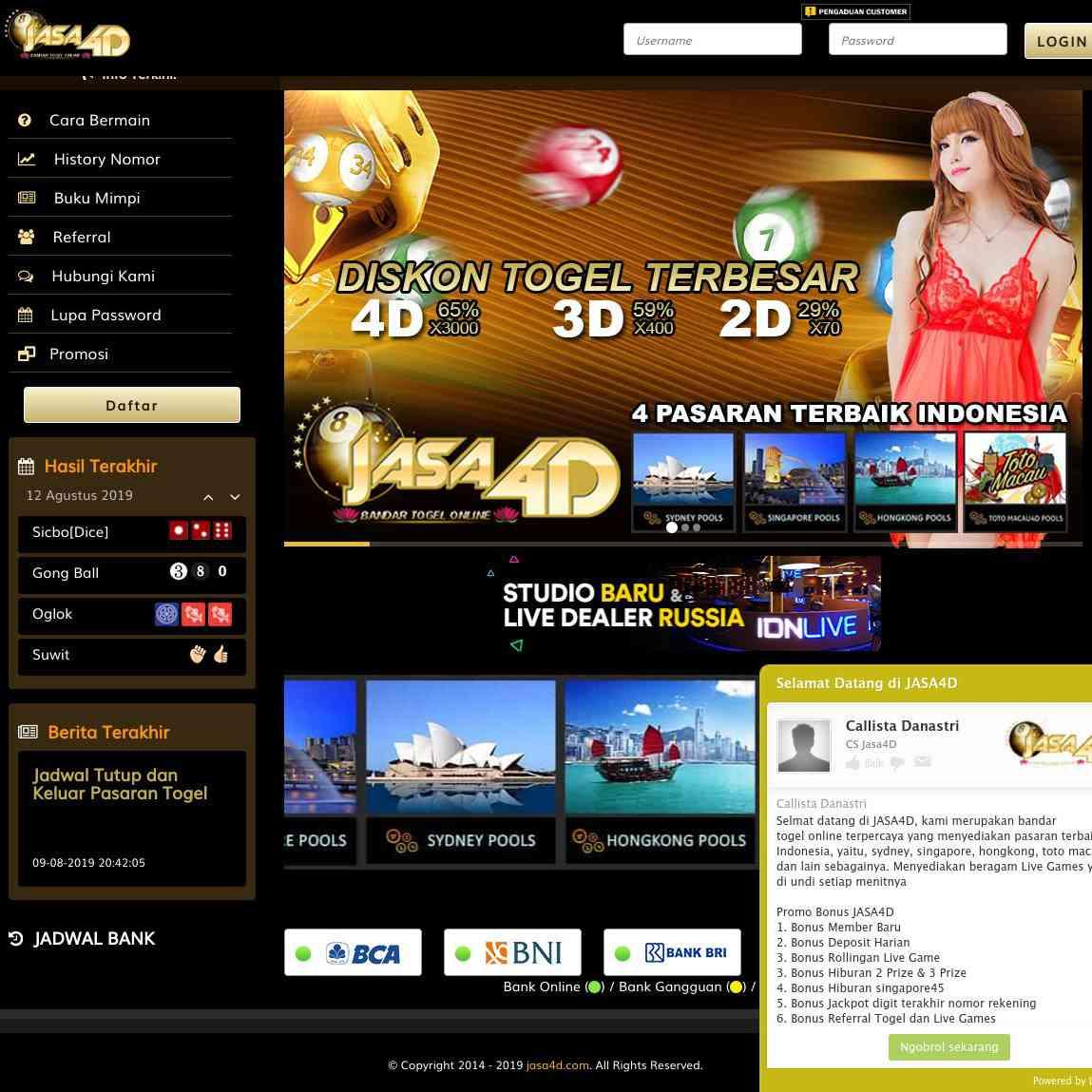 Jasa4d Bandar Togel Online Terpercaya