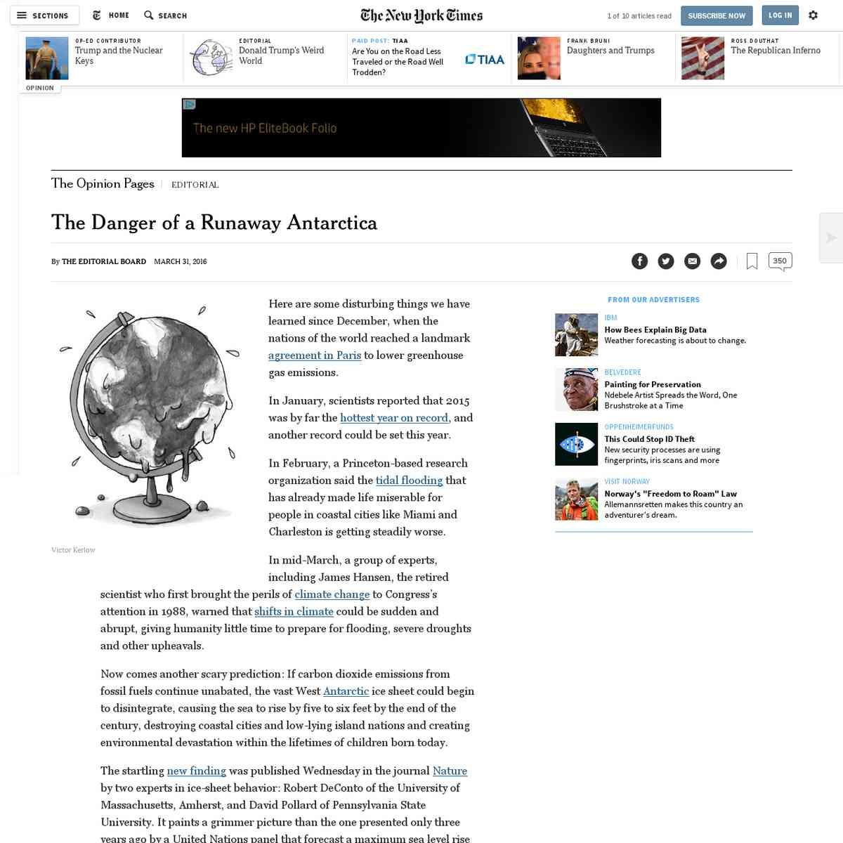 The Danger of a Runaway Antarctica