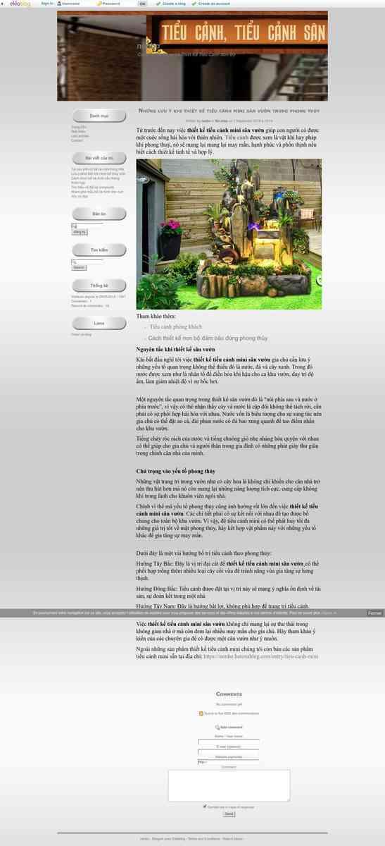 Những lưu ý khi thiết kế tiểu cảnh mini sân vườn trong phong thủy - nonbo