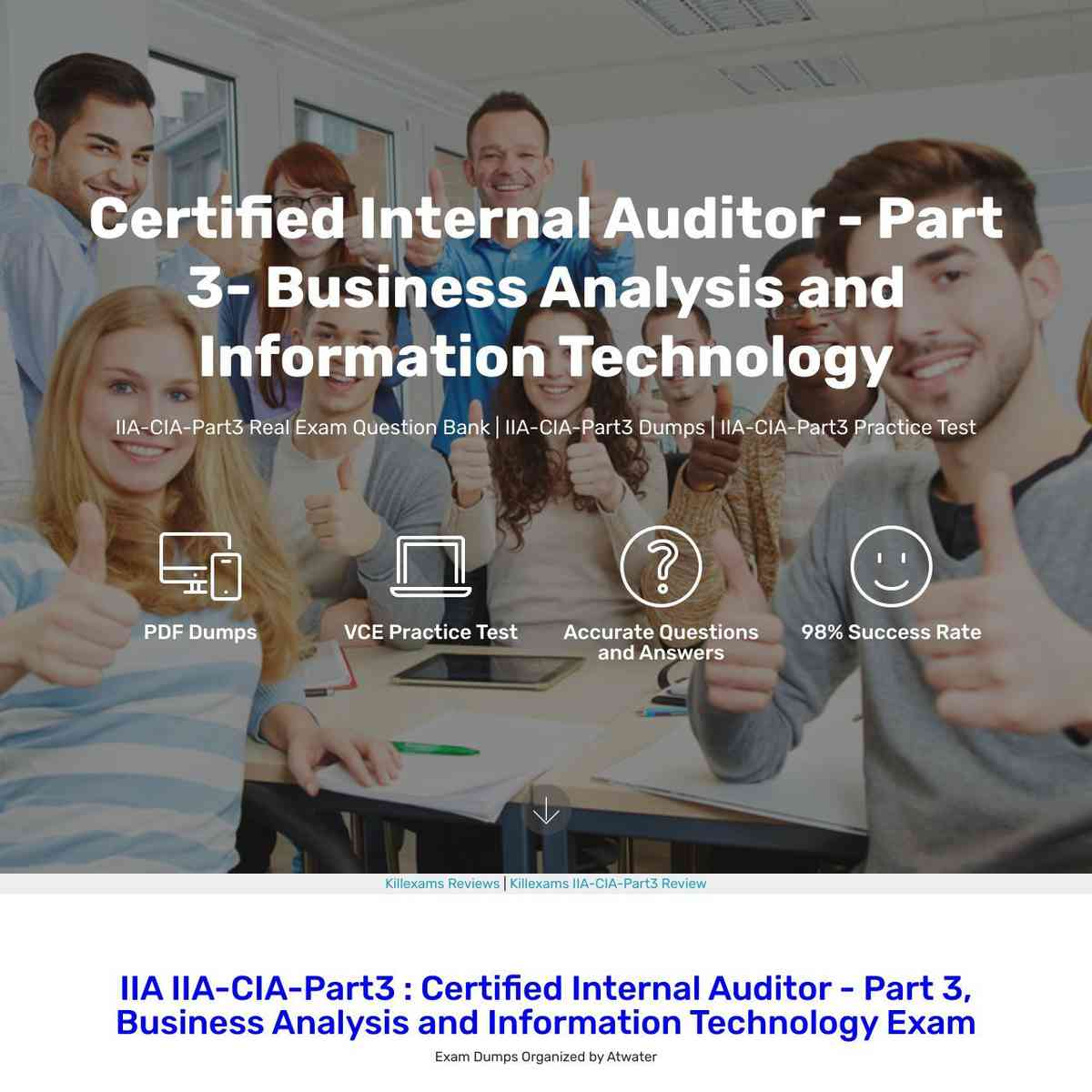 100% valid and up to date IIA-CIA-Part3 braindumps questions