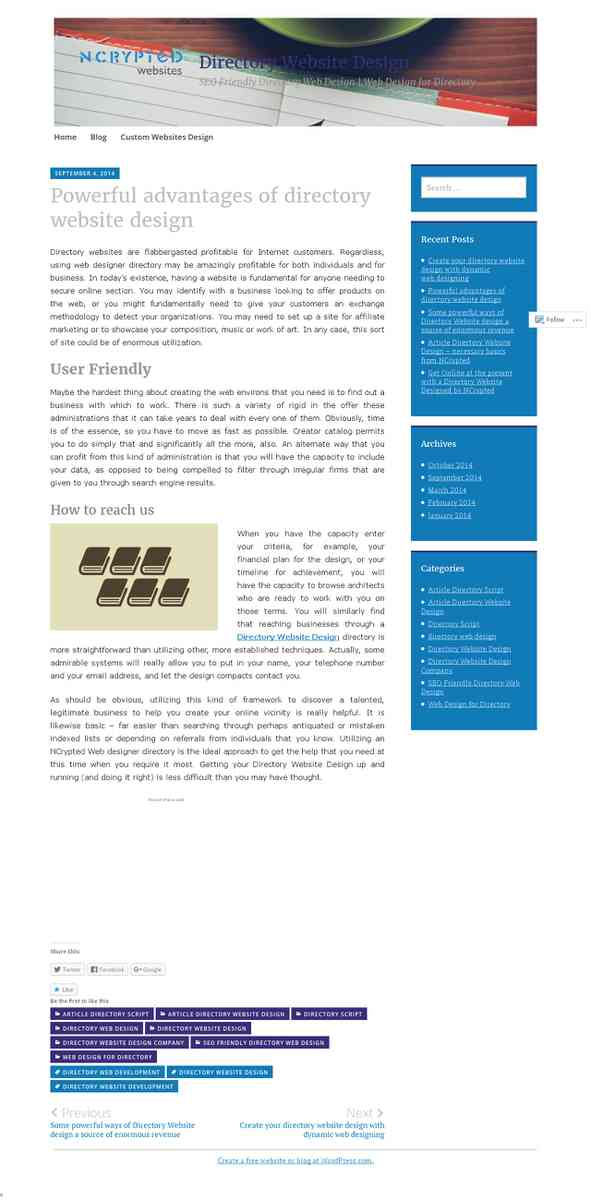 directorywebsitedesign.wordpress.com/2014/09/04/powerful-advantages-of-directory-website-design/