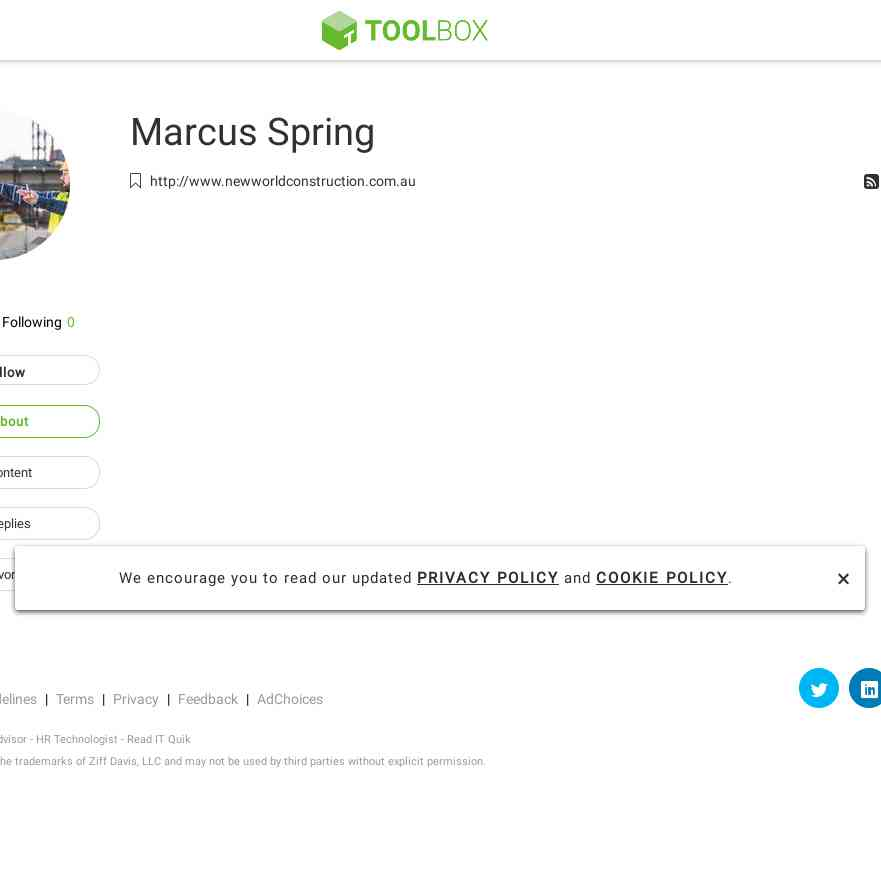 toolbox.com/user/about/MarcusSpring