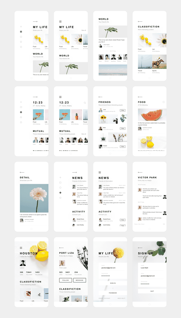 Dribbble - my_life_app_design_annex.png by Zhao Legs