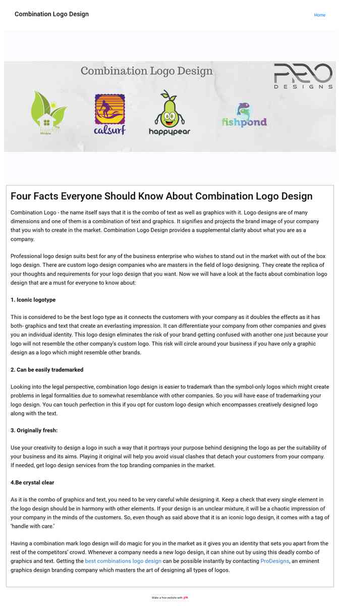Four Facts Everyone Should Know About Combination Logo Design