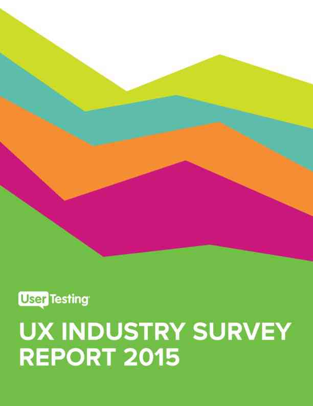 User Testing Industry Survey Report