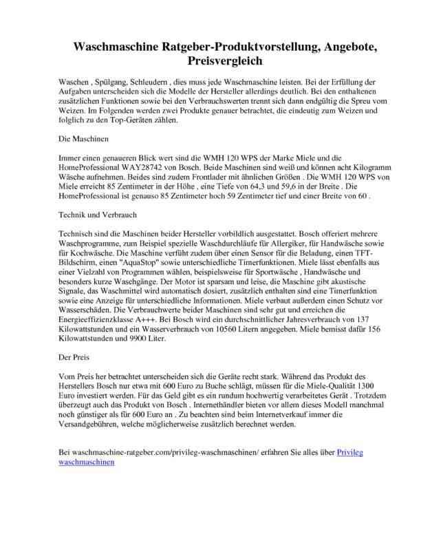 Waschmaschine Ratgeber-Produktvorstellung, Angebote, Preisvergleich
