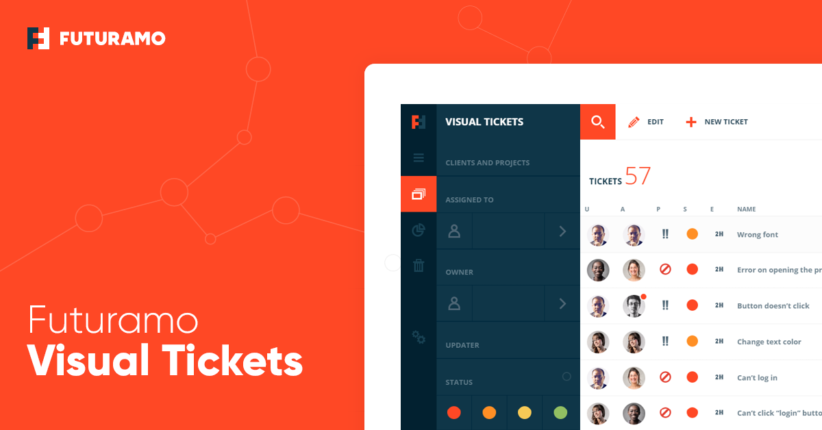 Futuramo Visual Tickets – Bug & Issue Tracking, Visual Feedback