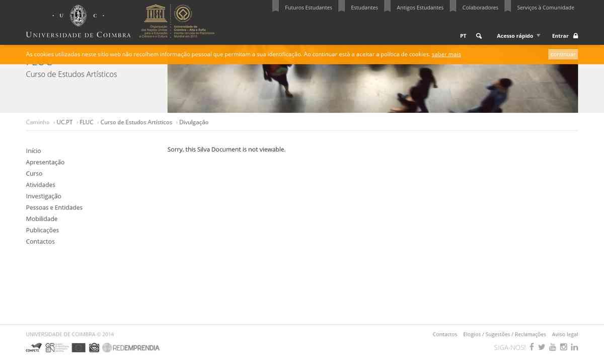Divulgação » Curso de Estudos Artísticos | Universidade de Coimbra