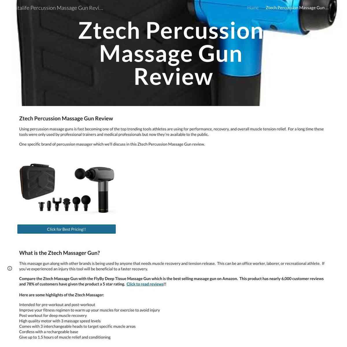 Ztech Percussion Massage Gun Review
