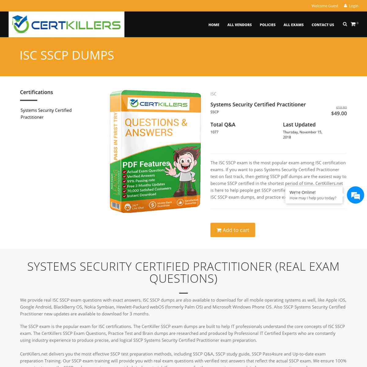 Download Updated CertKillers.net SSCP | test answers | test prep | practice questions