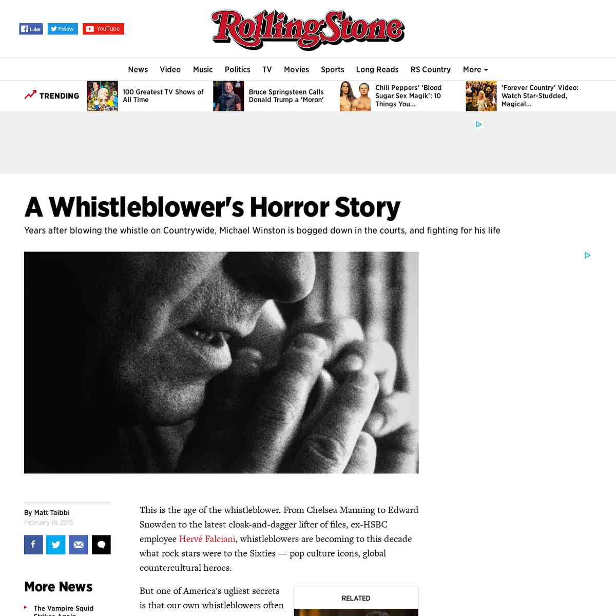 A Whistleblower's Horror Story | Rolling Stone