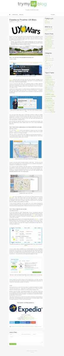 Expedia vs Priceline: UX Wars - TryMyUI Blog