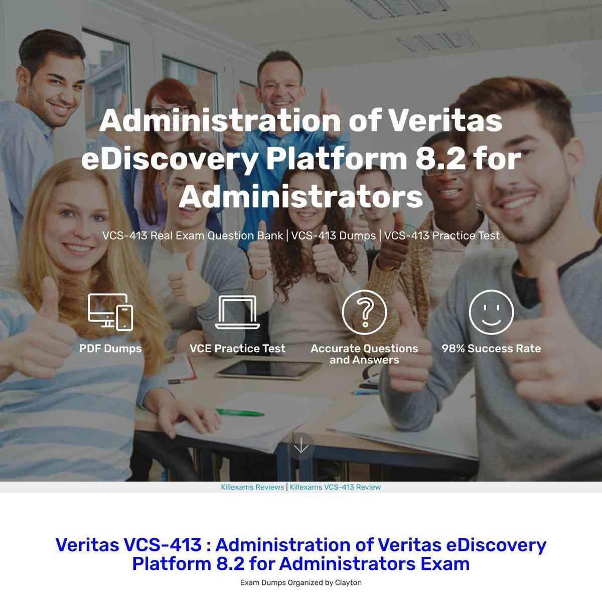 Memorize VCS-413 exam dumps questions before you go for exam