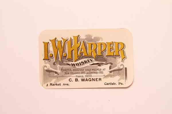 Old Vintage, I.W. HARPER WHISKEY Label, New Orleans and Chicago, Alcoh – TheBoxSF