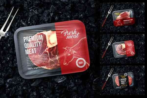 $ Meat Package Mockup