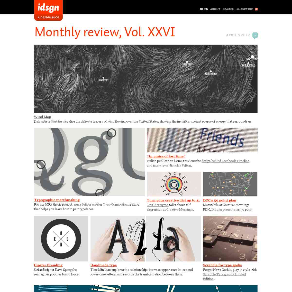 Monthly review, Vol. XXVI: idsgn (a design blog)