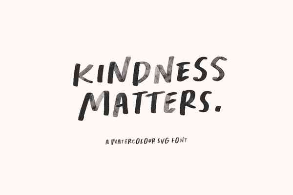 Kindness Matters Font: SVG, Regular