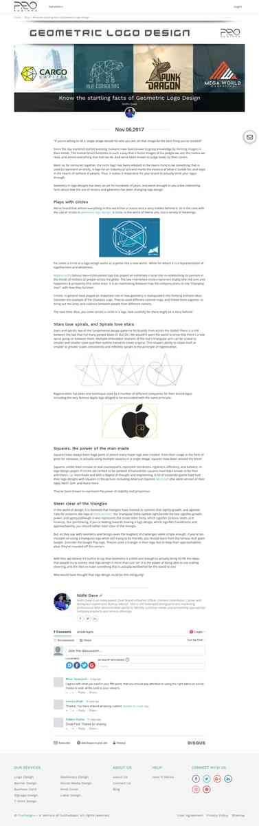 Know the startling facts of Geometric Logo Design