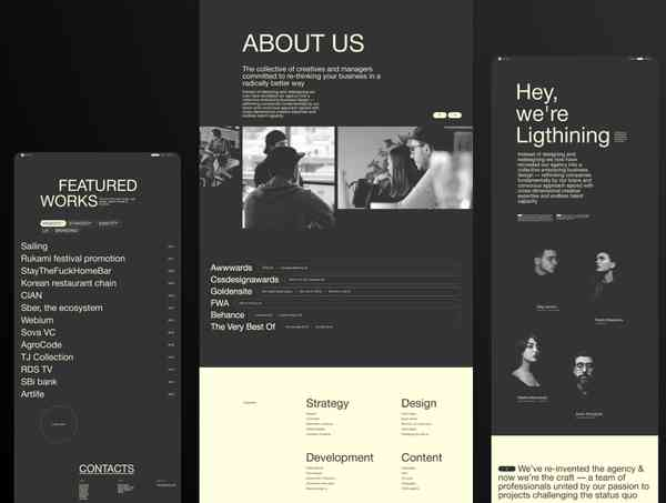 Lightning. Creative digital production Figma Template