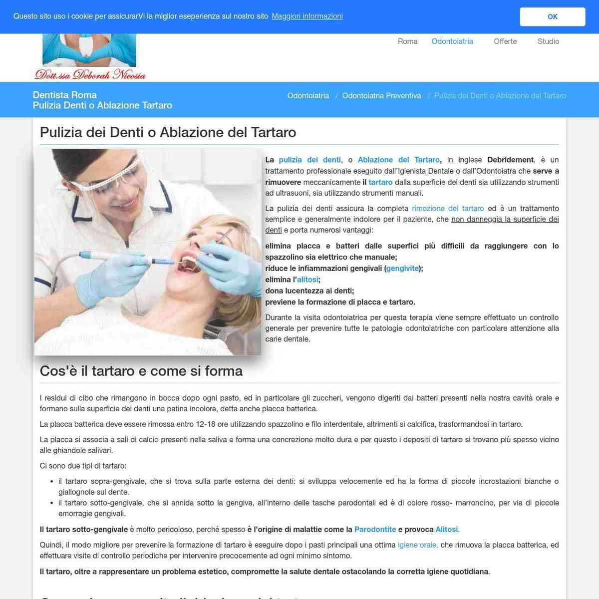 Pulizia Denti o Ablazione Tartaro - Dentista Roma