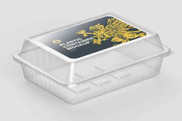 $ Plastic Container with sticker