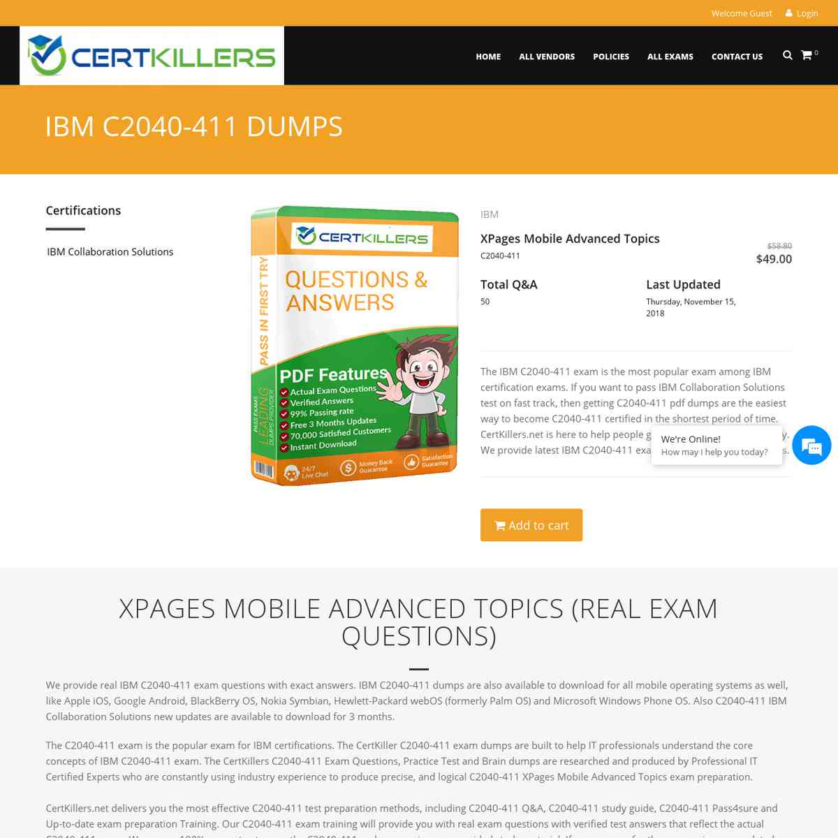 Get Certified with CertKillers.net C2040-411 Exam Prep.   entrance exam   test questions