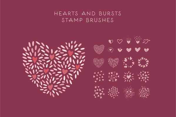 Valentine's Day Procreate Brushes