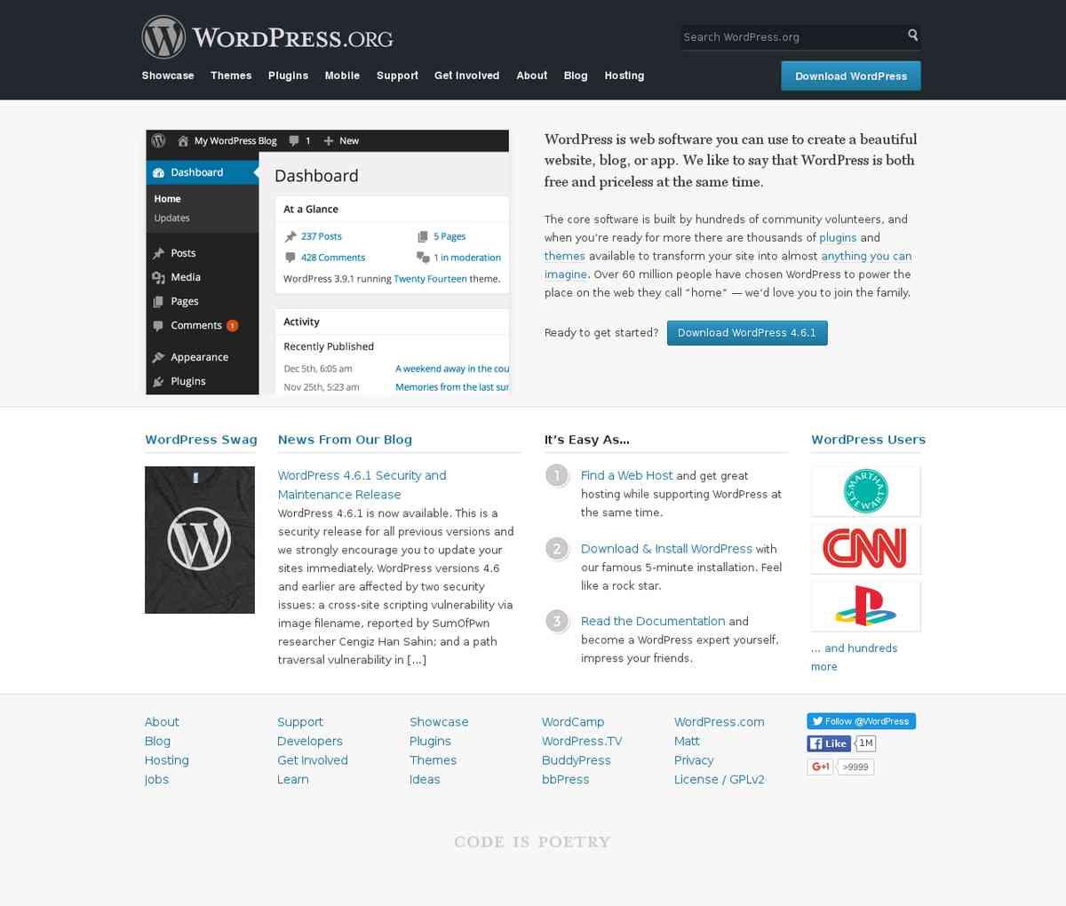 Blog Tool, Publishing Platform, and CMS — WordPress