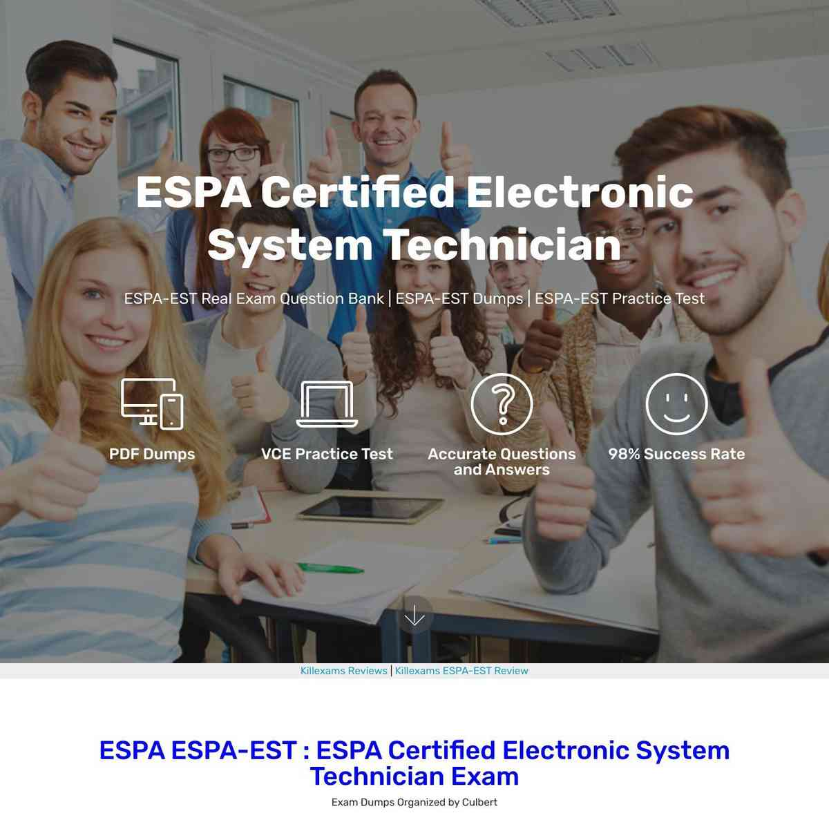 These are 0day updated ESPA-EST PDF Download