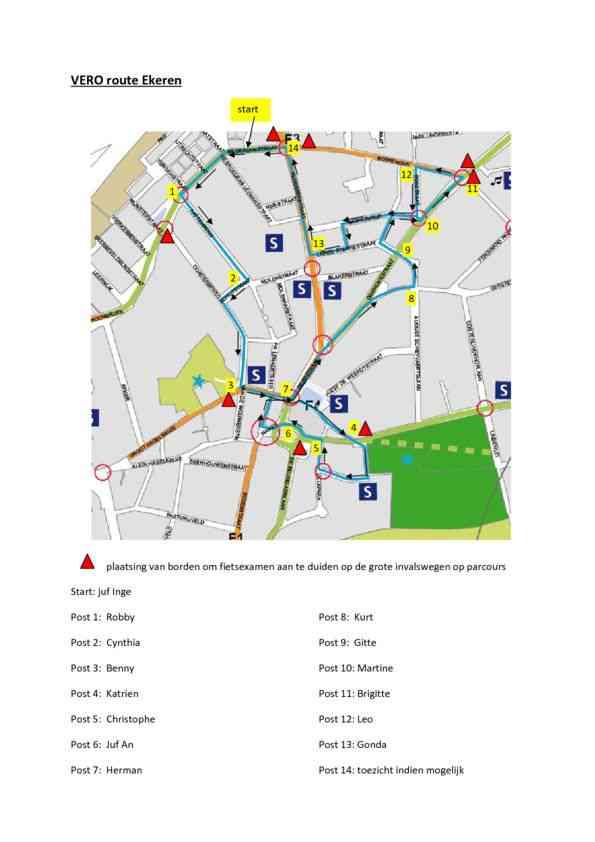 vero-route Ekeren plan