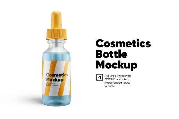 $ Cosmetics Bottle Mockup
