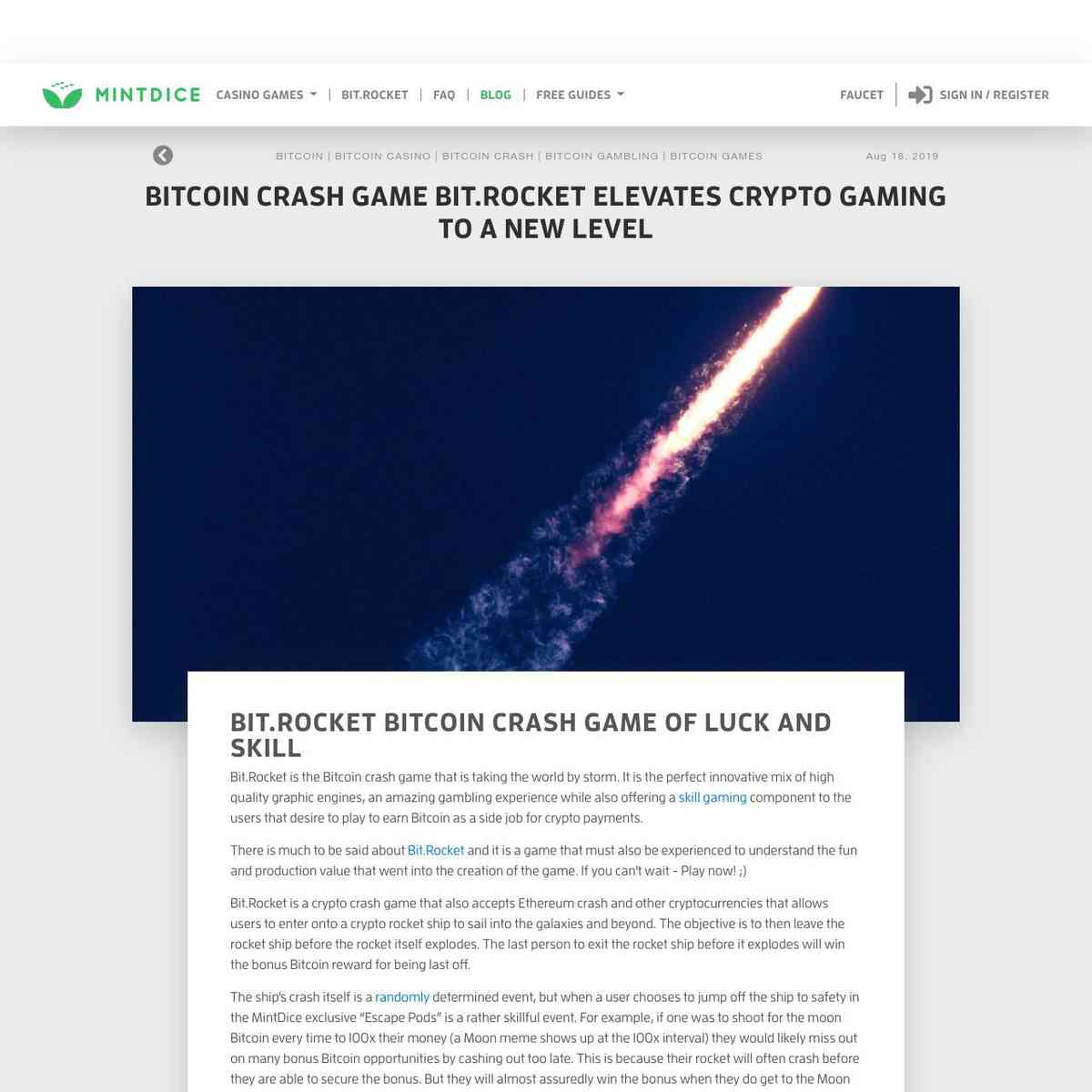 http://Bitcoin Crash Game Bit.Rocket Elevates Crypto Gaming To A New Level