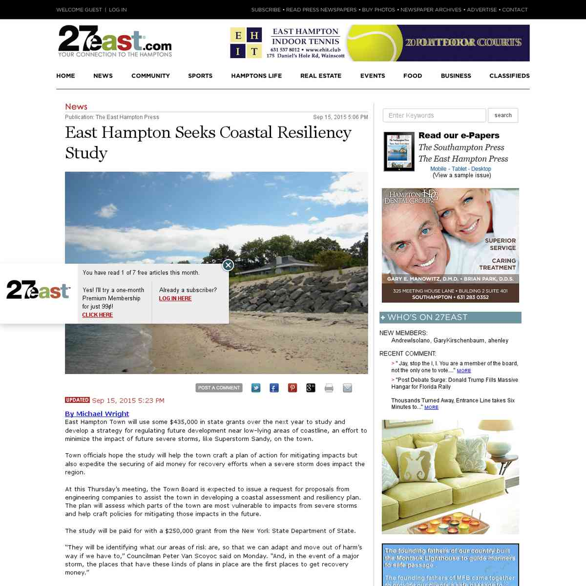 East Hampton Seeks Coastal Resiliency Study