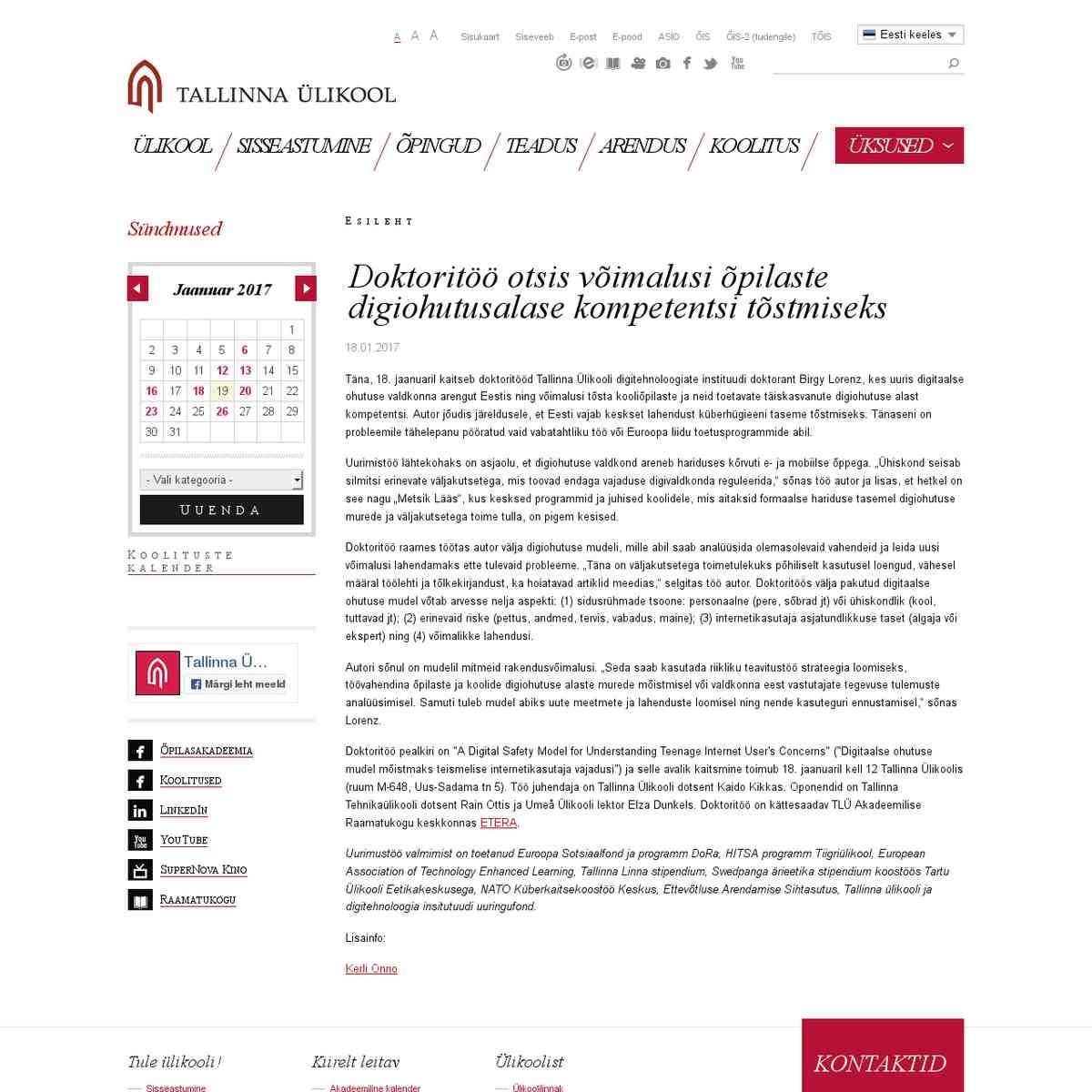 Doktoritöö otsis võimalusi õpilaste digiohutusalase kompetentsi tõstmiseks / Tallinna Ülikool