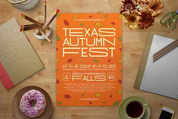 $ Fall Music Festival Flyer