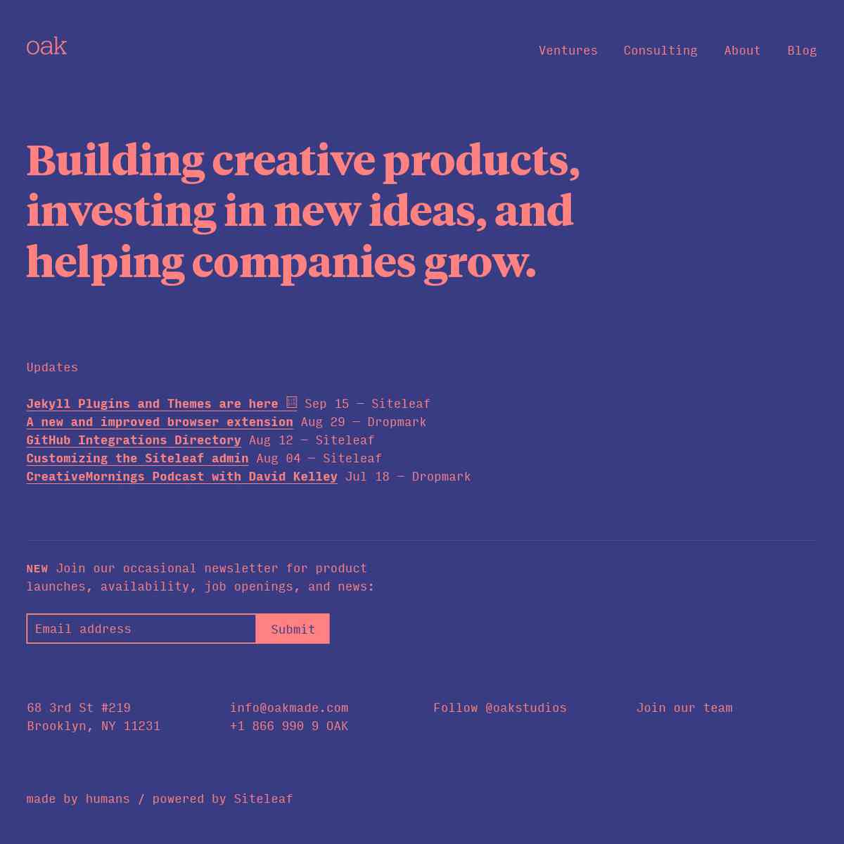 oakmade.com